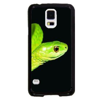 Snake Print Pattern Phone Case for Samsung Galaxy S5 (Black)