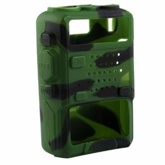 Soft Handheld Rubber Silicon Case for Baofeng UV-5R and UV-5REWalkie Talkie Two Way Radio (Camouflage)
