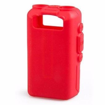 Soft Handheld Rubber Silicon Case for Baofeng UV-5R and UV-5REWalkie Talkie Two Way Radio (Red) - 2