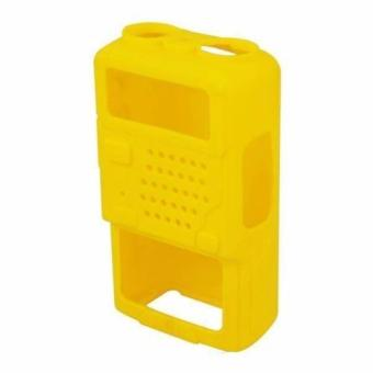 Soft Handheld Rubber Silicon Case for Baofeng UV-5R and UV-5REWalkie Talkie Two Way Radio (Yellow)
