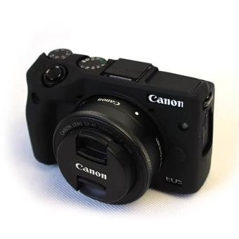 Soft Silicone Gel Rubber Camera Case Cover for Canon EOS M3(Black)- intl