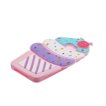 Soft Silicone Protective Case for Samsung Galaxy A5 2017 SM-A520 (5.2 inch Screen Phone) Lovely Ice Cream Ultra Thick Drop Resistant Design Cute (Pink) - intl - 2