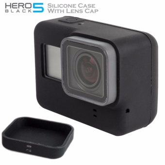 Soft Silicone Protective Cover Case Comes with Silicone Lens Capfor GoPro Hero 5 Action Camera