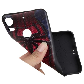 Soft TPU Case for HTC Desire 10 Pro Captain 3D Embossed Painting Series Protective Cover - 4