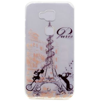 Soft TPU Cover Case for Huawei G8 / GX8 (Eiffel Tower) - intl
