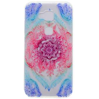 Soft TPU Cover Case for Huawei G8 / GX8 (Flowers) - intl