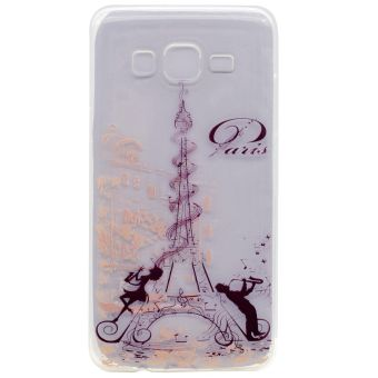 Soft TPU Cover Case for Samsung Galaxy On7 G600 (Eiffel Tower) - intl
