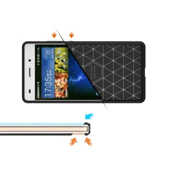 Soft TPU Shock Absorption and Carbon Fiber Design Silicone Case for Huawei P8 Lite (2015) - intl - 5