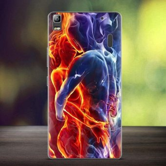 Softlyfit Embossed TPU Case Accessory for Lenovo A7000/A7000 Plus/K3 Note - Embrace Love Flame Lovers - intl