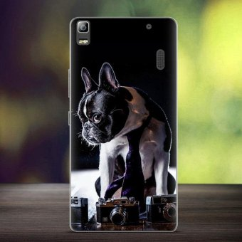 Softlyfit Embossed TPU Cover for Lenovo A7000/A7000 Plus/K3 Note - Retriever Dog - intl