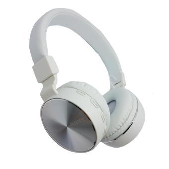 Sony Bluetooth FM/MP3 stereo headphones (silver)