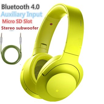 Sony MDR-100ABN 103dB Stereo Subwoofer Wireless Bluetooth Headset(Yellow/Green)
