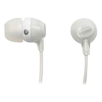 sony in ear headphones. sony mdr-ex15ap ex monitor in-ear headphones (white) in ear