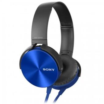 Sony MDR-XB450AP 102dB Extra Bass Smartphone Headset (Blue)