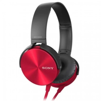 Sony MDR-XB450AP 102dB Extra Bass Smartphone Headset (Red)