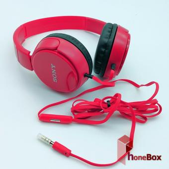 Sony MDR-XB668 With Mic Over-the-Ear Headphones (red) - 2