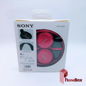 Sony MDR-XB668 With Mic Over-the-Ear Headphones (red) - 4