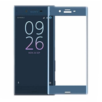 Sony Xperia XZ Screen Protector,3D Full Screen Coverage 9H-Hardness Tempered Glass Screen Protector, Ultra-thin Shatterproof Anti-Scratch HD Clear Ballistic Glass Screen Protector (Blue) - intl