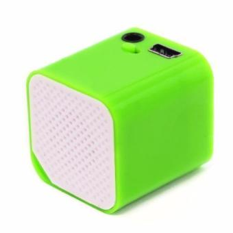 Sound Bytes CUBE MP3 Player Speaker (Green) - 2