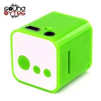Sound Bytes CUBE MP3 Player Speaker (Green)