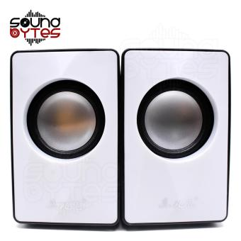 Sound Bytes Mega Bass M-02 Multimedia Digital Speaker (White/Black) - 3