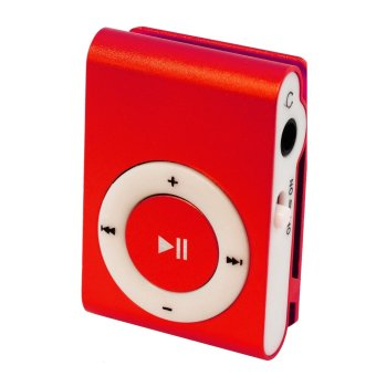 Sound Bytes Mini Metal Clip MP3 Player (Red) with FREE Exclusive Paper Bag and Pouch Case - 2