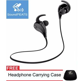 SoundPEATS QY7 with carrying pouch. Bluetooth Noise Cancelling Sport In-Ear Earphones headset with Mic