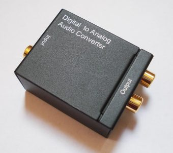 SPDIF Optical Coaxial RCA Toslink Signal to Analog Audio Converter Adapter - intl - 2