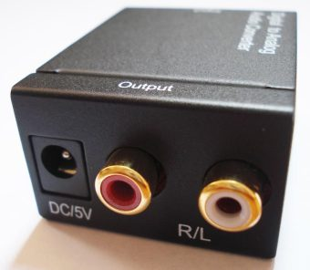 SPDIF Optical Coaxial RCA Toslink Signal to Analog Audio Converter Adapter - intl