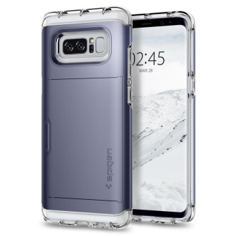 Spigen Galaxy Note 8 Case Crystal Wallet Orchid Gray
