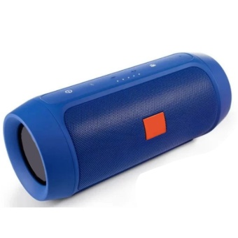 Splashproof Portable Wireless Bluetooth Speaker And Power Bank (Blue)