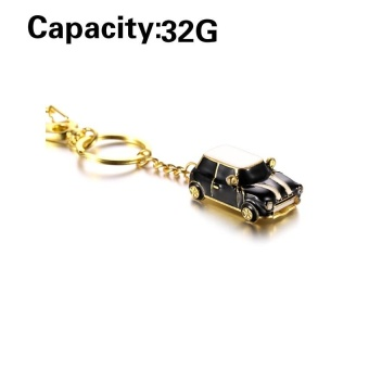 Sport Car USB Flash Drives Mini Metal Car Pen Drive 64GB 32GB 16GB8GB Usb Flash Memory Stick Pendrive U Disk ( Black) - intl