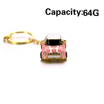 Sport Car USB Flash Drives Mini Metal Car Pen Drive 64GB 32GB 16GB8GB Usb Flash Memory Stick Pendrive U Disk ( Pink) - intl