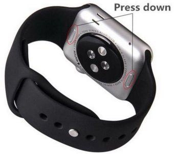 Sport Silicone Bracelet Strap Band For Apple Watch iwatch 38mm(Black) - Intl - 3