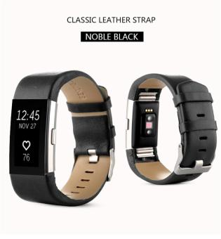 Sports Genuine Leather Watch Band Strap For Fitbit Charge 2 WristBand Bracelet - intl