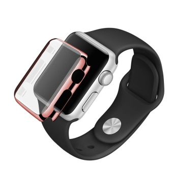 Sports Silicone Bracelet Strap Band +Cover Case For Apple WatchSeries 2 38mm BK - intl