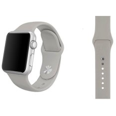 Sports Soft Silicone Watch Band Strap With Connector Adapter ForApple Watch 42mm Replace Bracelet Strap for