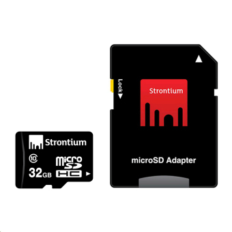 Strontium microSDHC Memory Card Class 10 32GB with Adapter Set of 3 - picture 2