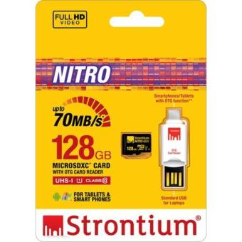 Strontium NITRO Micro SDXC 128gb with OTG Card Reader SRN128GTFU1T