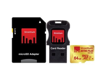 Strontium Nitro Plus 64GB Micro SD Card Adapter and Card Reader