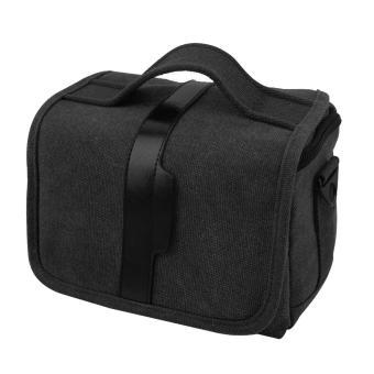 Stylish Vintage Shockproof Canvas Camera Shoulder Hand Bag Photography Messenger Crossbody Case with Partition Pad for DSLR Camera Nikon Sony Canon Black - intl