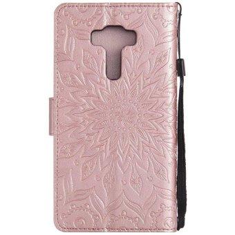 Sunflower pattern PU Leather Wallet Stand Flip Case Cover For Asuszenfone Selfie ZD552KL Case - intl - 3