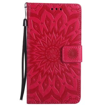 Sunflower pattern PU Leather Wallet Stand Flip Case Cover For LG G4Case - intl - 2