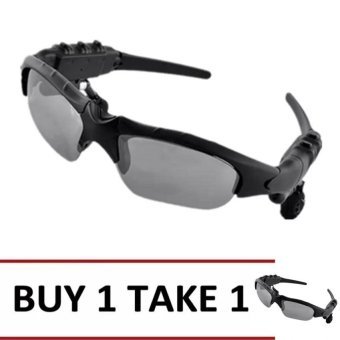 Sunglasses Bluetooth Sports Headset with Microphone (Black) Buy 1 Take 1
