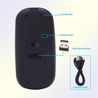 Super Slim Rechargeable 2.4G Wireless Mouse For PC And Laptop And Android - intl