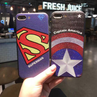 Superman iphone7/7plus matte whole package protective case phone case