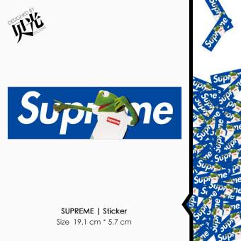 Supreme cool luggage travel box stickers guitar adhesive paper