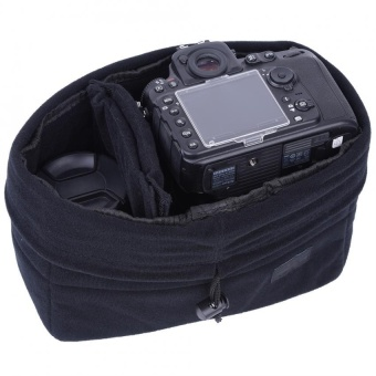 Sweatbuy Insert Partition Shockproof Padded Camera Bag ProtectionCase For DSLR Camera(Black) - intl