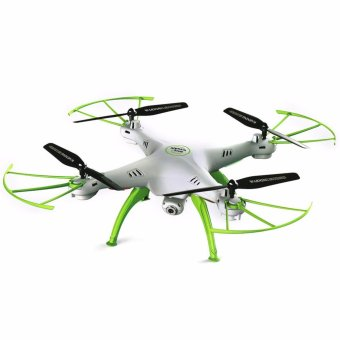 Syma X5HW-WHITE WiFi FPV 0.3 Mega Pixel Camera 2.4G 4 Channel 6-axis Gyro Quadcopter RTF (White)