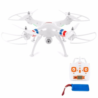 Syma X8C Venture 4 Channel 2.4GHz R/C Quadcopter Drone 2MP Camera (White) with Syma 2400mAh Li-Po Battery